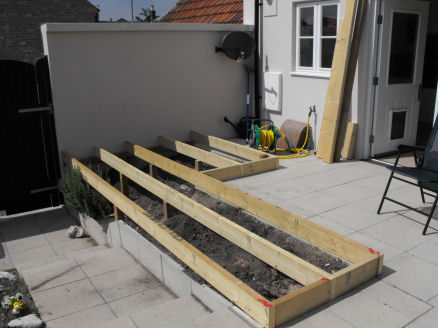 A guide to building the framework for your garden decking for Garden decking framework